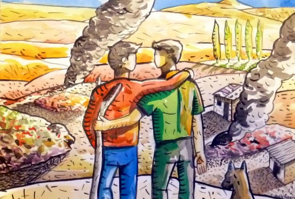 Ilustraciones libro «El basural»